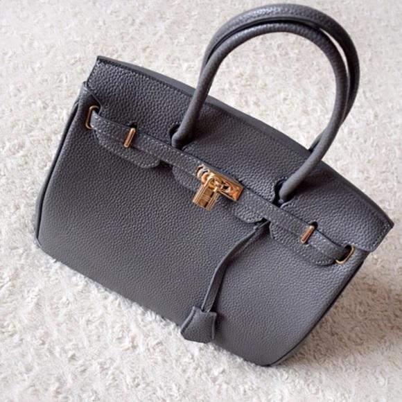 981632301630 Birkin Inspired GRAY 35cm handbag shoulder bag