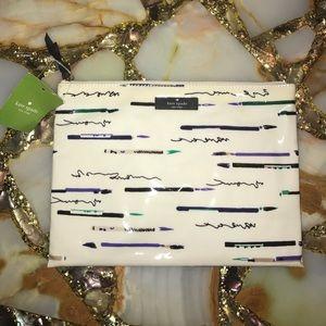 kate spade Handbags - NWT Kate Spade Large Pouch Daycation Penpals
