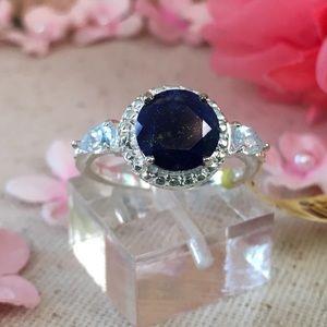Jewelry - 💞Lapis Lazuli, Sky Blue Topaz SS Ring💞