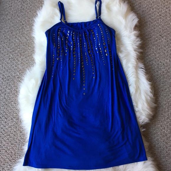 Dresses & Skirts - Purple Thin Strap Mini Dress - Size: Large