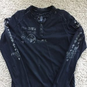 Affliction Other - Affliction Henley Long Sleeve