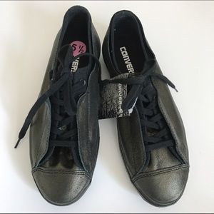 Converse Shoes - NEW CONVERSE black gold sneakers 5.5 or 8.5
