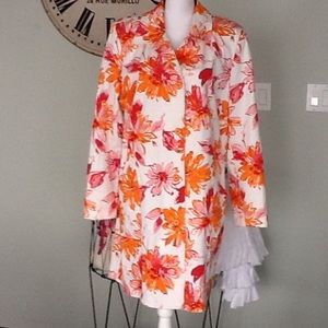 Bernardo Jackets & Blazers - Bernardo floral coat