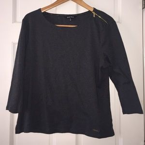Ellen Tracy gray top XL