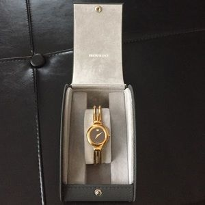 Movado Jewelry - Ladie's Movado Gold Tone Museum Bangle