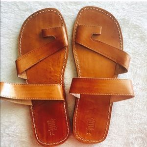 Other - Indian handmade leather slip ons