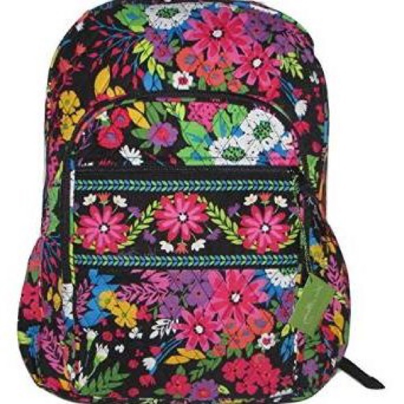 ISO Vera Bradley campus backpack field flowers ab081c1c2af97