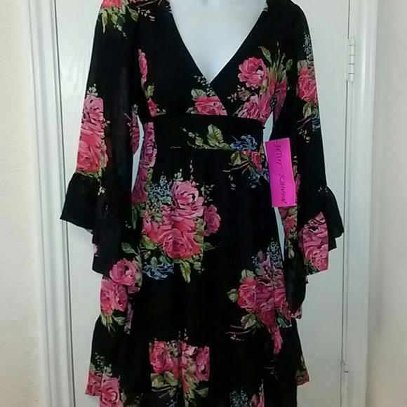 Betsey Johnson Dresses & Skirts - Betsey Johnson Rose Bambi Kimono Dress sz 2