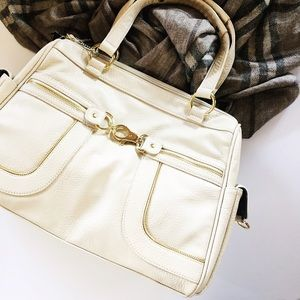 Olivia + Joy Handbags - Olivia and Joy bone vegan leather Randy satchel