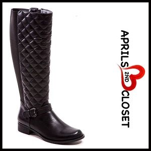 French Blu Shoes - FRENCH BLU TALL KNEE HIGH RIDING BOOTS