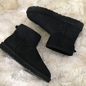 UGG Shoes - Black UGG classic mini shearling suede ankle boots