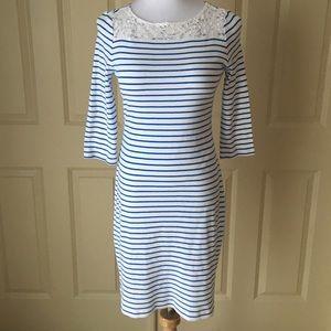 Lauren Ralph Lauren Blue and White Striped Dress