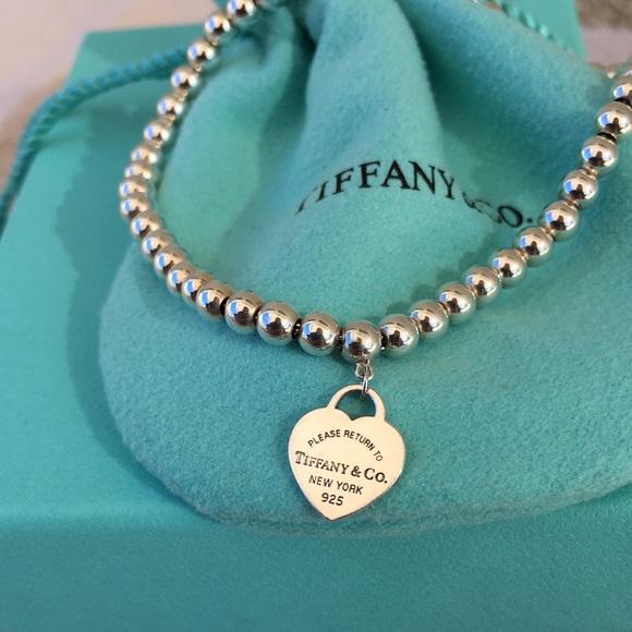 d6519b1a3 Tiffany & Co. RTT Mini Heart Tag Bead Bracelet 7