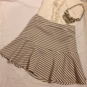 Lush Dresses & Skirts - Lush black and cream check fit and flare skirt