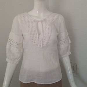 Max & Co. Tops - Max & Co linen  lace insert blouse
