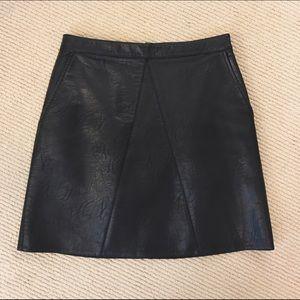  Zara faux leather moto skirt