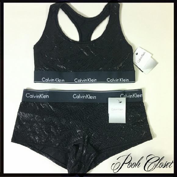 3fa3efb71a4cf NWT Calvin Klein Modern Cotton Bralette   Boyshort