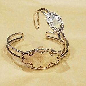Jewelry - NWOT Mommy&Me Stainless Steel Engravable Cuffs