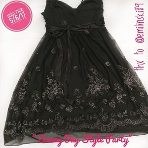 City Triangles Dresses & Skirts - 🎉HP🎉CityTriangles BlackEmbellished Evening Dress
