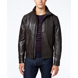 MICHAEL Michael Kors Other - MICHAEL Michael Khors Faux Brown Leather Jacket