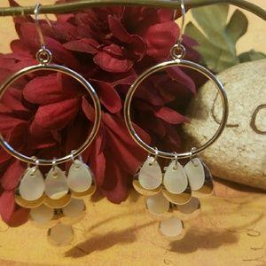 Jewelry - Beautiful Silver & MOP Teardrop Dangles