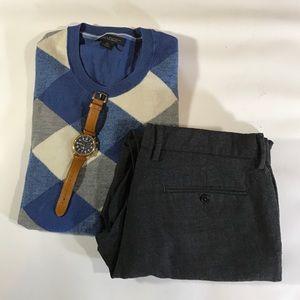 J. Crew Other - J.Crew Classic Fir Charcoal Wool Dress Pants 33x30