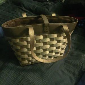 Brown Longaberger Basket Purse