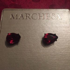Marchesa Jewelry - Marchesa Red Teardrop Earrings