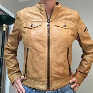 Andrew Marc Jackets & Blazers - Andrew Marc tan leather jacket