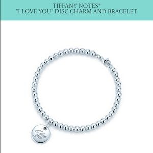 "Tiffany Notes ""I Love You"" Disc Charm & Bracelet"