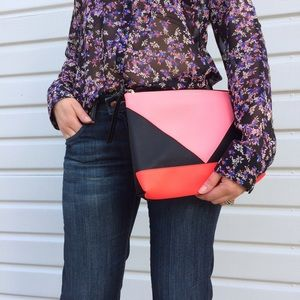 Victoria's Secret Handbags - NWT Victoria's Secret Colorblock Pouch Set