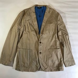 J. Crew Suits & Blazers - J.Crew Khaki 100% Cotton Mena Blazer Jacket Large