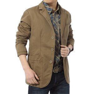 J.Crew Khaki 100% Cotton Mena Blazer Jacket Large