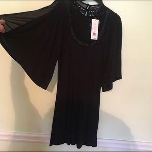 French Connection Key Hole Black Tunic Dress