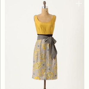 Anthropologie Dresses - Anthro Blooming Goldenrod dress