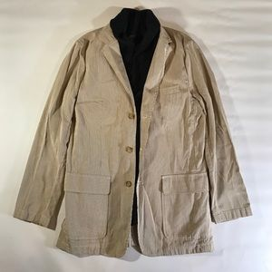 J. Crew Suits & Blazers - J.Crew Khaki White Striped Blazer Suit Jacket M