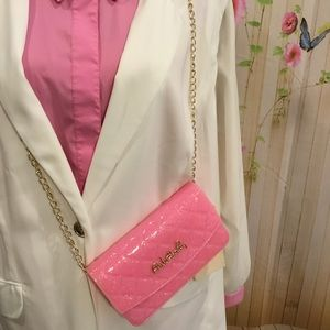 Pink Haley Handbags - Cross-body bag in light pink by Pink Haley.