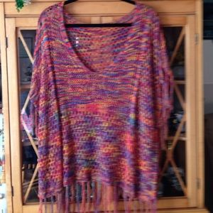 Tops - Boho Poncho type top-Beautiful & Unique! One Size