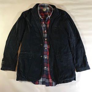 J.Crew Vintage Rustic Corduroy Navy Blazer Jacket