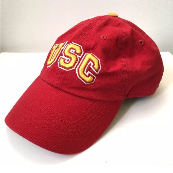 1b8d50ea3ea62 collegiate Accessories - Vintage 90s USC Trojans Snap Back dad hat