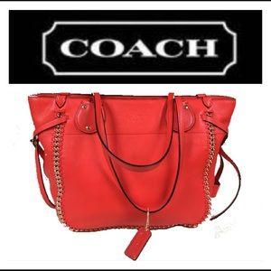 Coach Handbags - Coach Tatum Whiplash Coral/Orange Handbag 34398