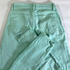 Cello Jeans Jeans - Cello Jeana Mint Green Skinny Cigarette Jeans XS