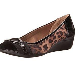 Anne Klein Shoes - Anne Klein Animal Print Wedges.