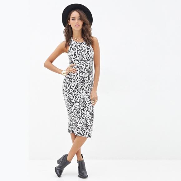 Forever 21 Dresses New Bw Animal Print Midi Dress M Poshmark