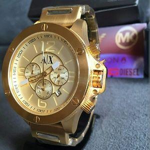 Armani Exchange  Other - Armani Exchange gold champagne Chronograph watch