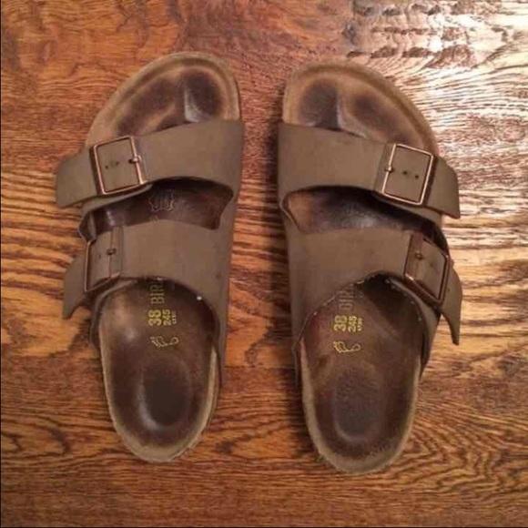 032f9c72055 Birkenstock Shoes - Authentic Mocha Arizona Birkenstock size 38