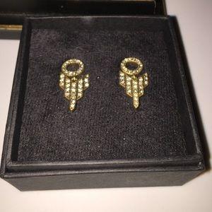J. Crew Jewelry - J.Crew Pave Rhinestone Deco Earrings - New 🎁