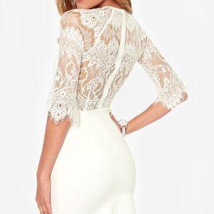 Lulu's Dresses & Skirts - White lace dress