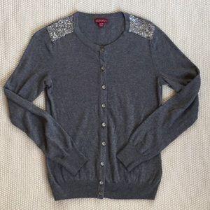 Merona Sweaters - Gray Sequined Cardigan