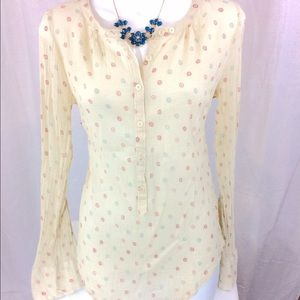 Zadig & Voltaire Tops - Zadig & Voltaire Cream Floral Pattern Blouse (M)